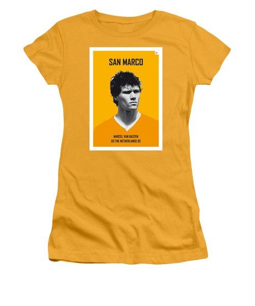 My Van Basten Soccer Legend Poster Women's T-Shirt (Junior Cut) by Chungkong Art