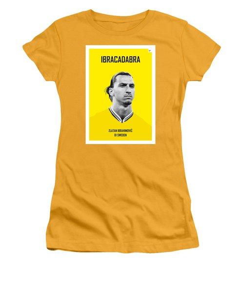 My Zlatan Soccer Legend Poster Women's T-Shirt (Junior Cut) by Chungkong Art