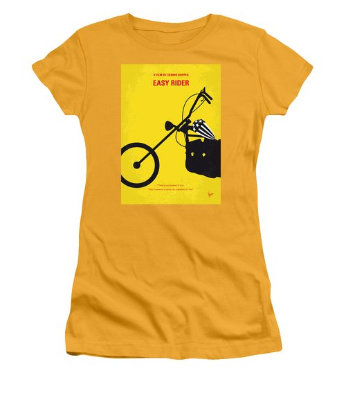 No333 My Easy Rider Minimal Movie Poster Women's T-Shirt (Junior Cut) by Chungkong Art