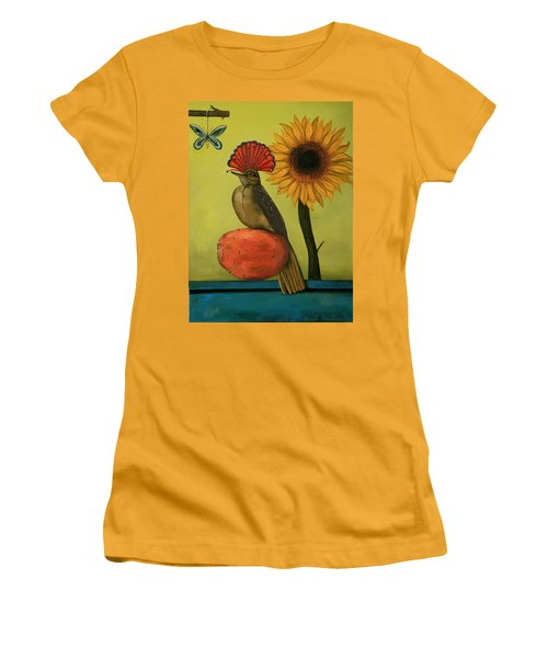 Royal Flycatcher  Women's T-Shirt (Junior Cut) by Leah Saulnier The Painting Maniac