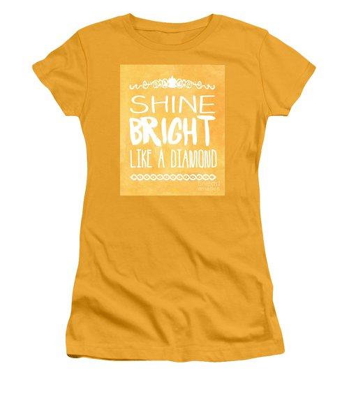 Shine Bright Orange Women's T-Shirt (Junior Cut) by Pati Photography