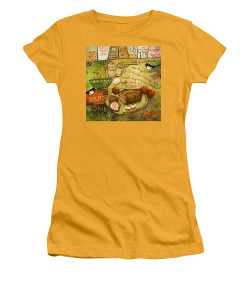 Irish Brown Bread Women's T-Shirt (Junior Cut) by Jen Norton
