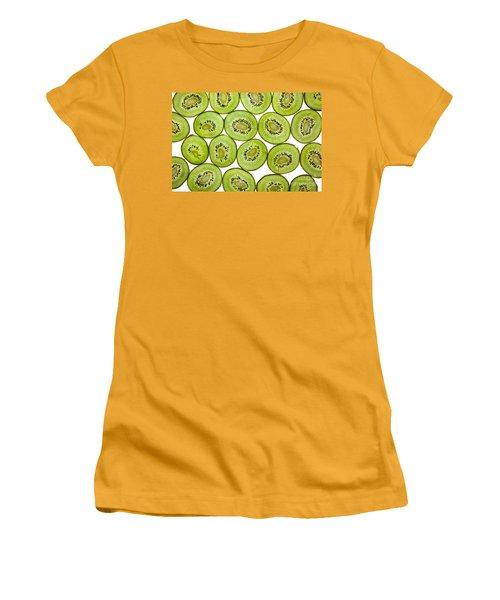 Kiwifruit Women's T-Shirt (Junior Cut) by Nailia Schwarz