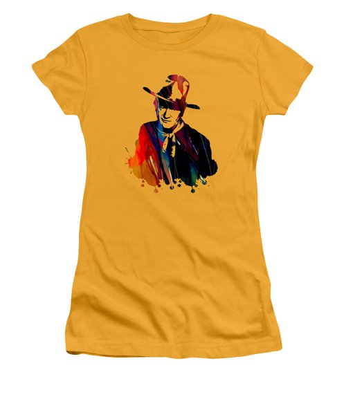 John Wayne Collection Women's T-Shirt (Junior Cut) by Marvin Blaine