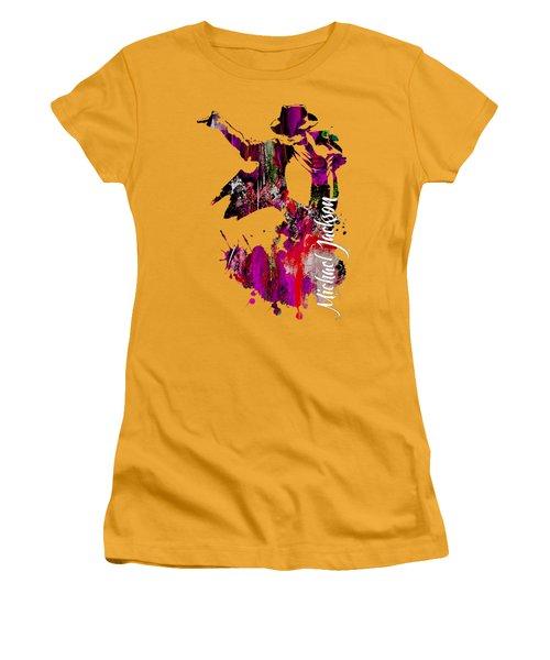 Michael Jackson Collection Women's T-Shirt (Junior Cut) by Marvin Blaine