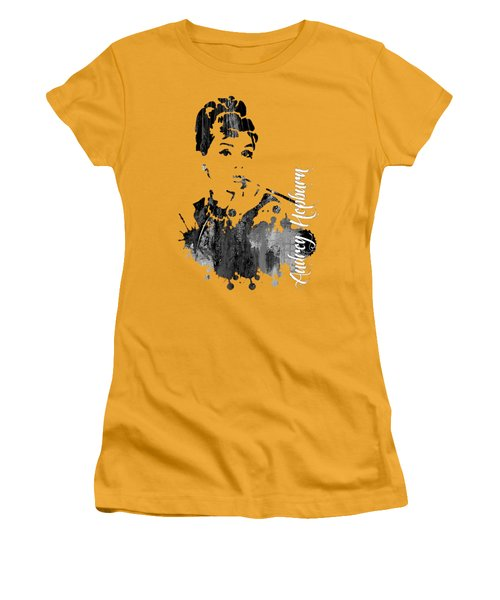 Audrey Hepburn Collection Women's T-Shirt (Junior Cut) by Marvin Blaine