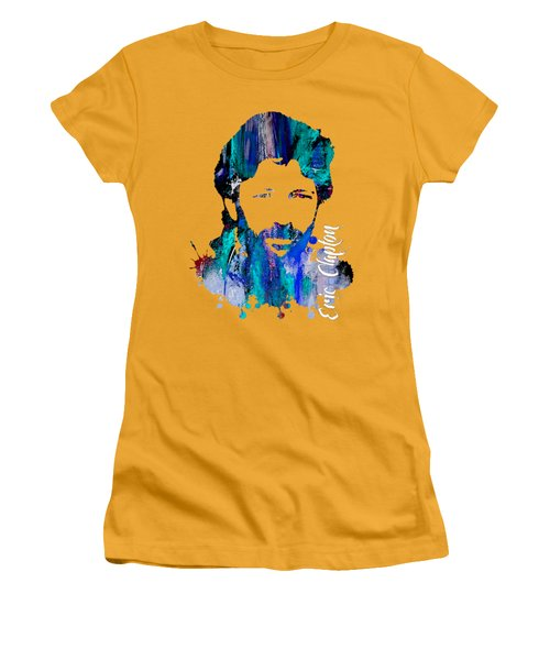 Eric Clapton Collection Women's T-Shirt (Junior Cut) by Marvin Blaine