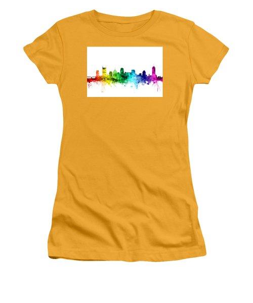 Nashville Tennessee Skyline Women's T-Shirt (Junior Cut) by Michael Tompsett