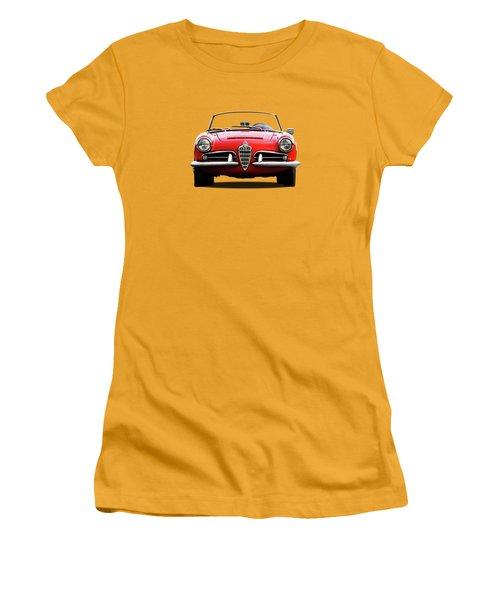 Alfa Romeo Spider Women's T-Shirt (Junior Cut) by Mark Rogan
