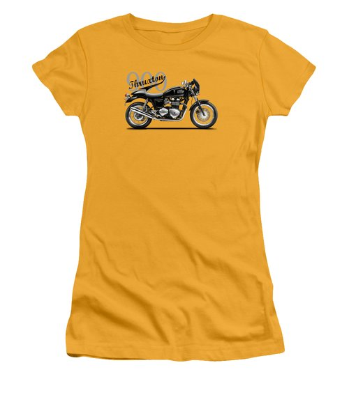 Triumph Thruxton Women's T-Shirt (Junior Cut) by Mark Rogan