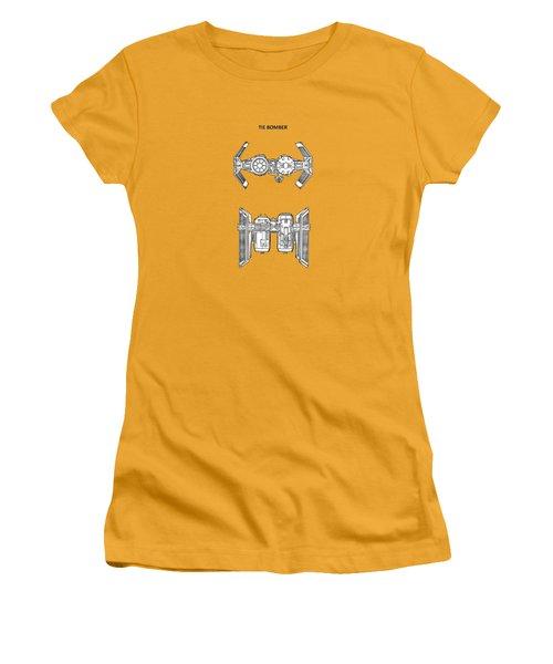 Star Wars - Spaceship Patent Women's T-Shirt (Junior Cut) by Mark Rogan