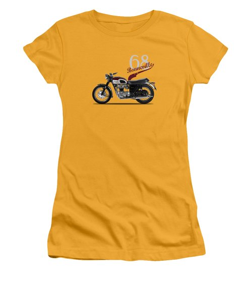 Triumph Bonneville T120 1968 Women's T-Shirt (Junior Cut) by Mark Rogan