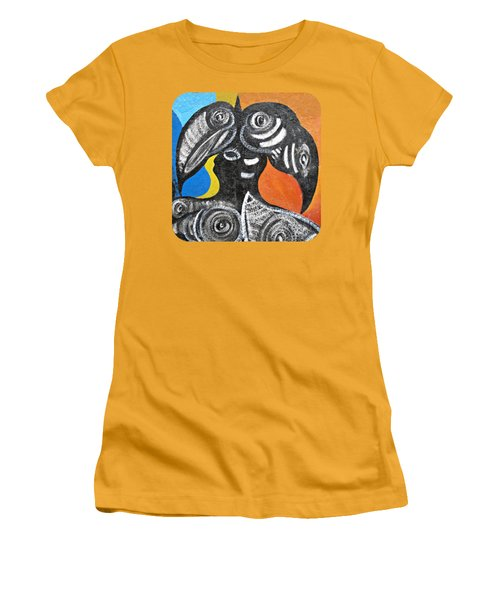 Two Toucans Women's T-Shirt (Junior Cut) by Ethna Gillespie