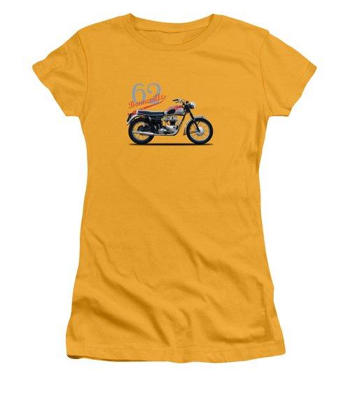 Bonneville T120 1962 Women's T-Shirt (Junior Cut) by Mark Rogan