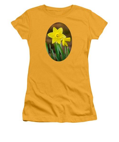 Beautiful Daffodil Flower Women's T-Shirt (Junior Cut) by Christina Rollo