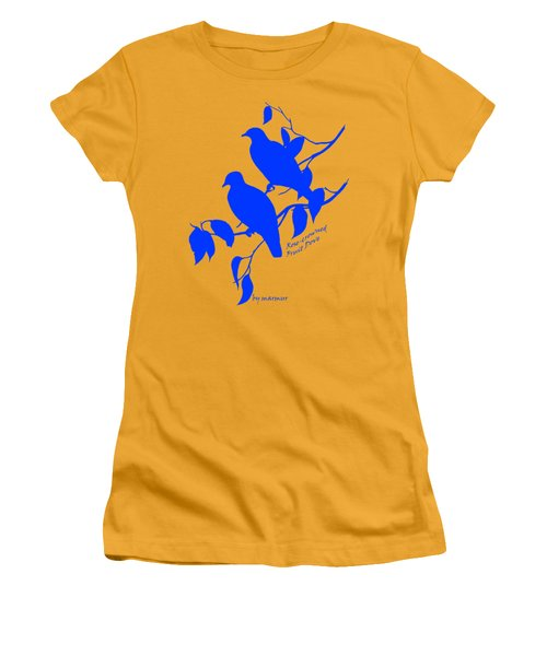 Blue Doves Women's T-Shirt (Junior Cut) by The one eyed Raven
