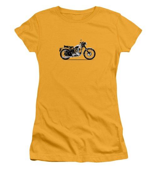 Bsa Gold Star 52 Women's T-Shirt (Junior Cut) by Mark Rogan