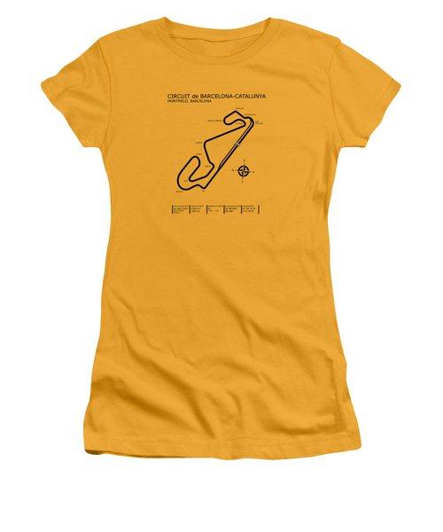Circuit De Barcelona Catalunya Women's T-Shirt (Junior Cut) by Mark Rogan