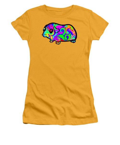 Colorful Guinea Pig Women's T-Shirt (Junior Cut) by Chris Butler