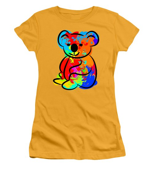 Colorful Koala Women's T-Shirt (Junior Cut) by Chris Butler