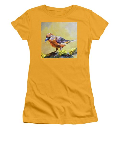 Crossbill Women's T-Shirt (Junior Cut) by Jan Hardenburger