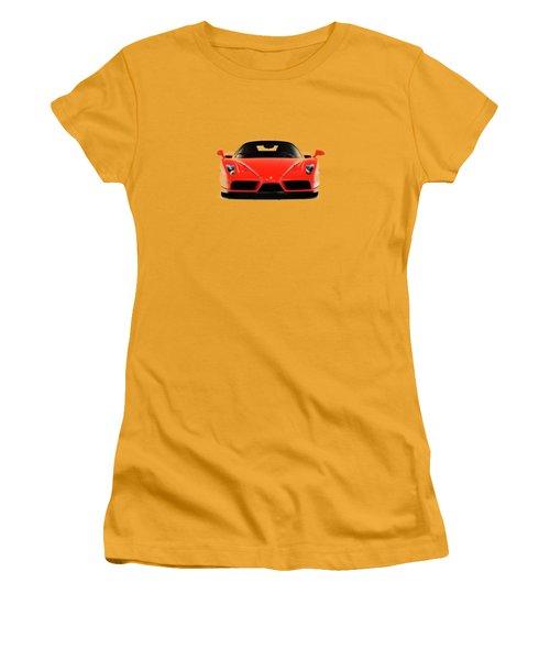 Ferrari Enzo Ferrari Women's T-Shirt (Junior Cut) by Mark Rogan