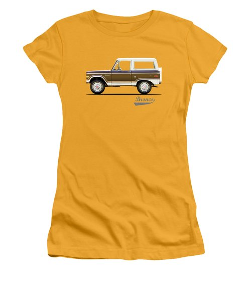 Ford Bronco Ranger 1976 Women's T-Shirt (Junior Cut) by Mark Rogan