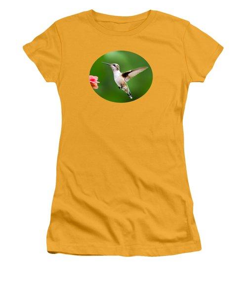 Free As A Bird Hummingbird Women's T-Shirt (Junior Cut) by Christina Rollo