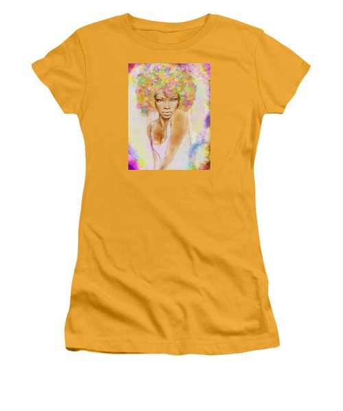 Girl With New Hair Style Women's T-Shirt (Junior Cut) by Lilia D