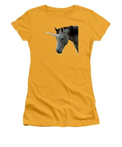 Glowing Unicorn Women's T-Shirt (Junior Cut) by Shane Bechler