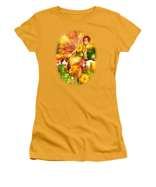Golden Adornments Women's T-Shirt (Junior Cut) by Brandy Thomas