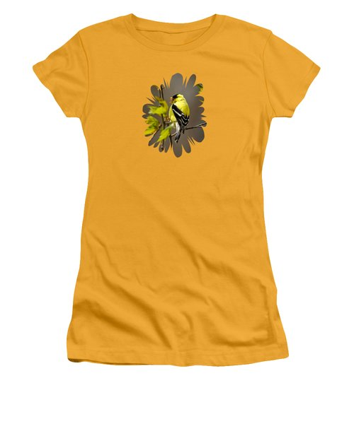 Goldfinch Suspended In Song Women's T-Shirt (Junior Cut) by Christina Rollo