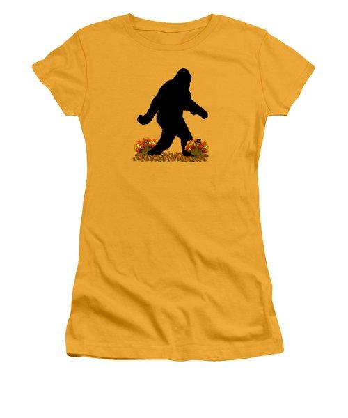 Gone Thanksgiving Squatchin' Women's T-Shirt (Junior Cut) by Gravityx9   Designs