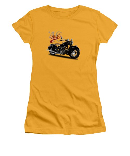 Indian Chief 1946 Women's T-Shirt (Junior Cut) by Mark Rogan