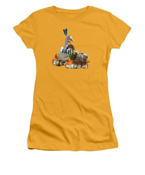 Indian Ducks Women's T-Shirt (Junior Cut) by Gravityx9 Designs