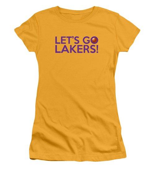 Let's Go Lakers Women's T-Shirt (Junior Cut) by Florian Rodarte