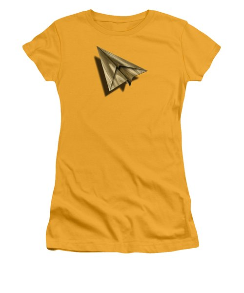 Paper Airplanes Of Wood 18 Women's T-Shirt (Junior Cut) by YoPedro