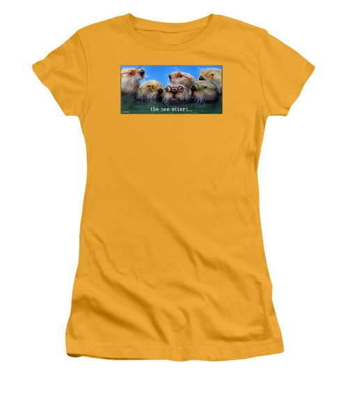 See Otters... Women's T-Shirt (Junior Cut) by Will Bullas