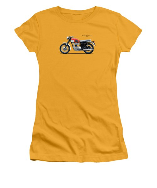 Triumph Bonneville 1966 Women's T-Shirt (Junior Cut) by Mark Rogan