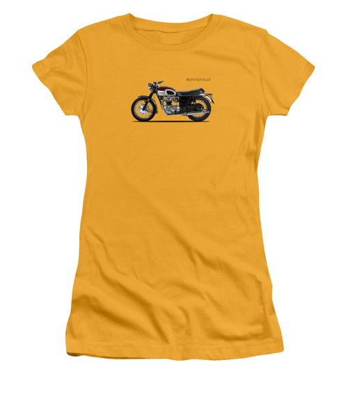 Triumph Bonneville 1968 Women's T-Shirt (Junior Cut) by Mark Rogan