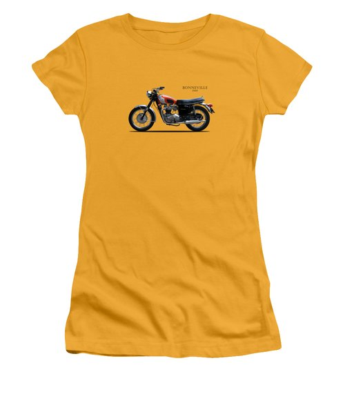 Triumph Bonneville 1969 Women's T-Shirt (Junior Cut) by Mark Rogan