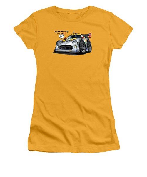 Viper Gts-r Car-toon Women's T-Shirt (Junior Cut) by Steven Dahlen