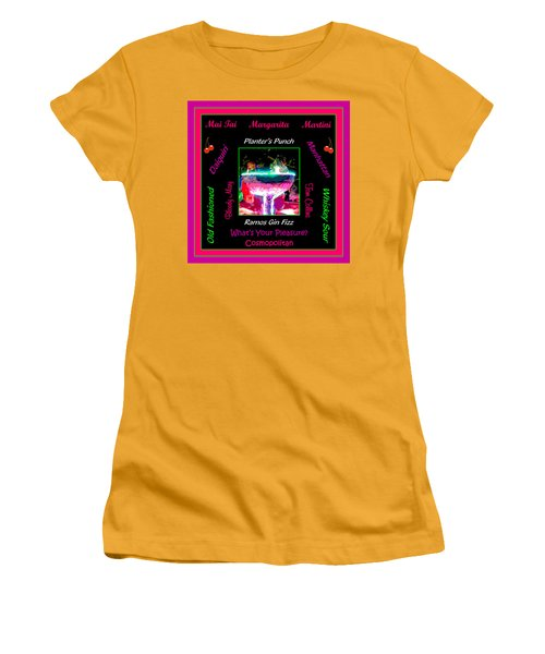 What's Your Pleasure Women's T-Shirt (Junior Cut) by Marian Bell