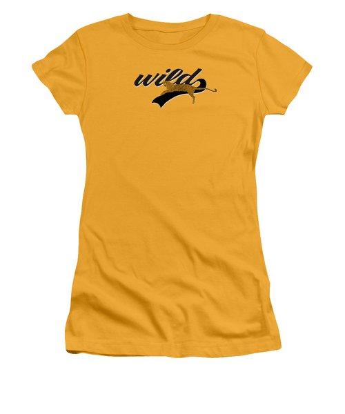 Wild Women's T-Shirt (Junior Cut) by Priscilla Wolfe