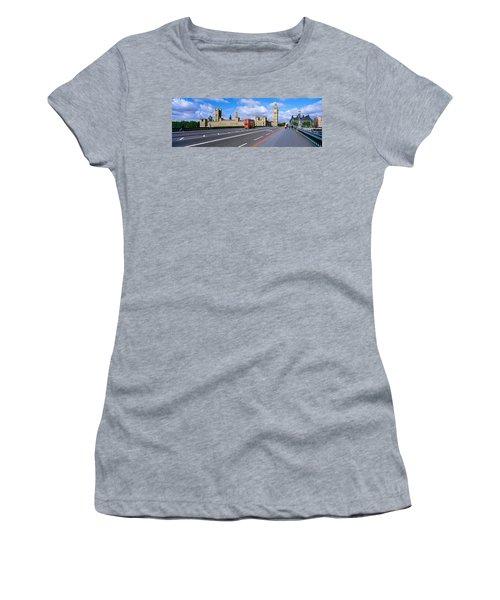 Parliament Big Ben London England Women's T-Shirt (Junior Cut) by Panoramic Images