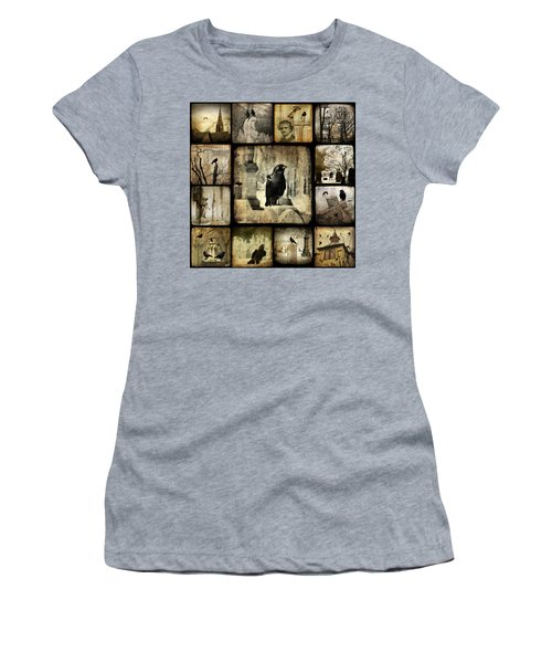 Gothic And Crows Women's T-Shirt (Junior Cut) by Gothicrow Images