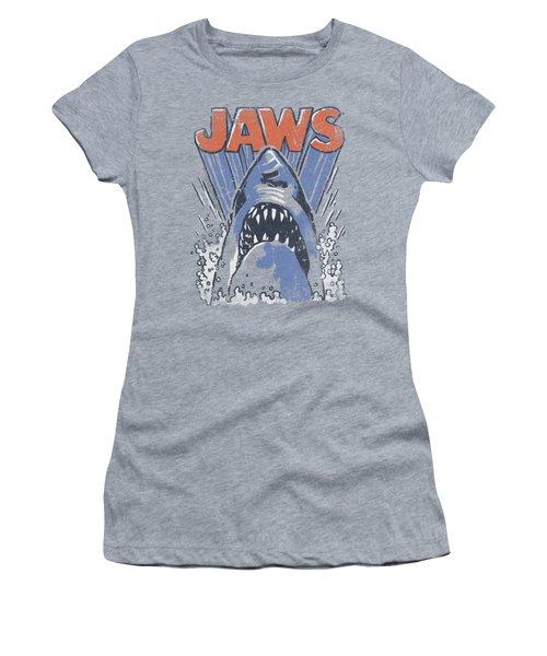 Jaws - Comic Splash Women's T-Shirt (Junior Cut) by Brand A