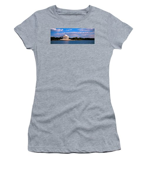 Monument On The Waterfront, Jefferson Women's T-Shirt (Junior Cut) by Panoramic Images
