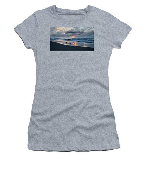 Sandpipers In Paradise Women's T-Shirt (Junior Cut) by Betsy Knapp
