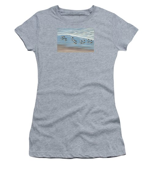 Sandpipers Women's T-Shirt (Junior Cut) by Tina Obrien